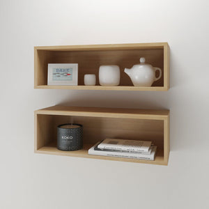 Wall Shelves, Natural Maple (2-Pack in One Order)