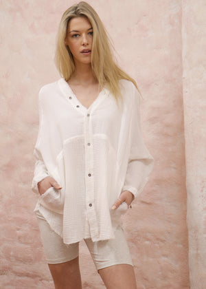 Casey Shirt Top In White