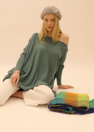 Amazing Knit Jumper in Aqua