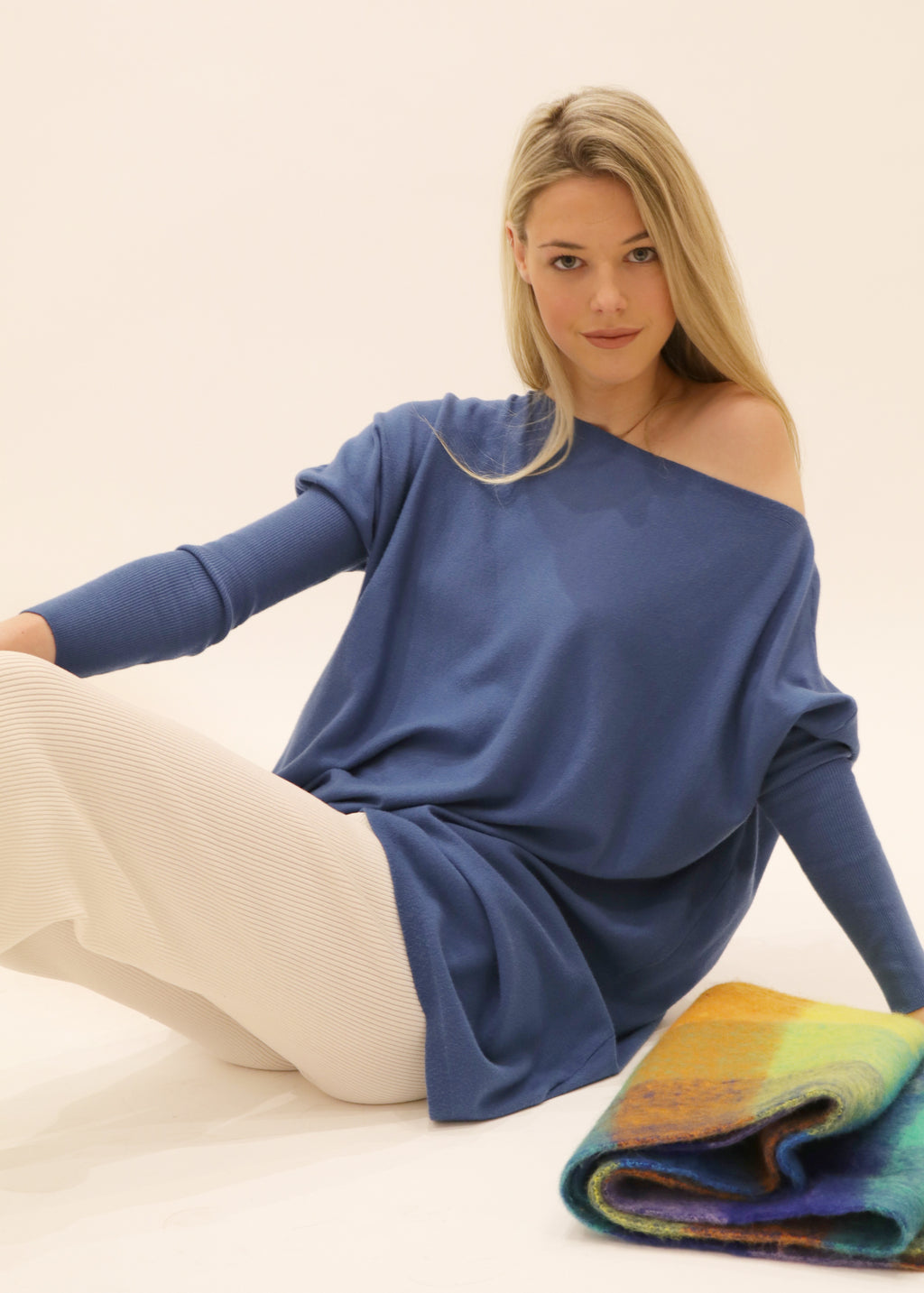 Amazing Knit Jumper in Blue Depths