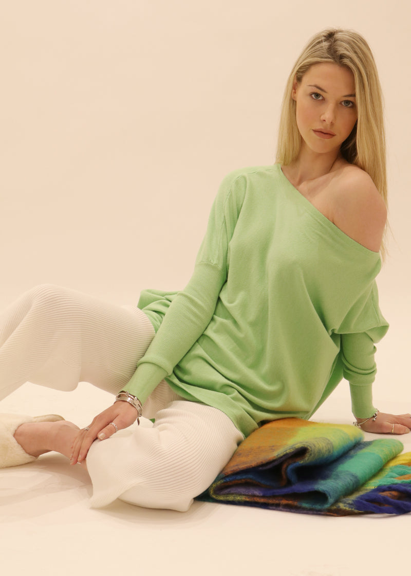 Amazing Knit Sweater in Apple Green - SLIDE SHOW Amazing Jumper,MELBOURNE BASE, THE BEST KNIT JUMPER S005