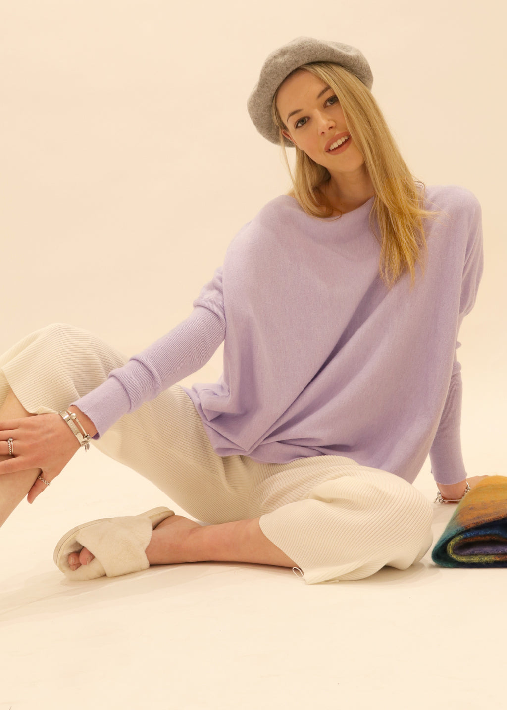 Amazing Jumper, Oversized Knit Jumper Austral in Lilac