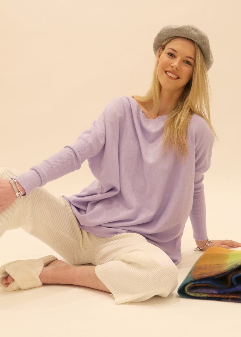 Amazing S005 Knit Jumper, Lavender a/w 2020, loungewear soft knit