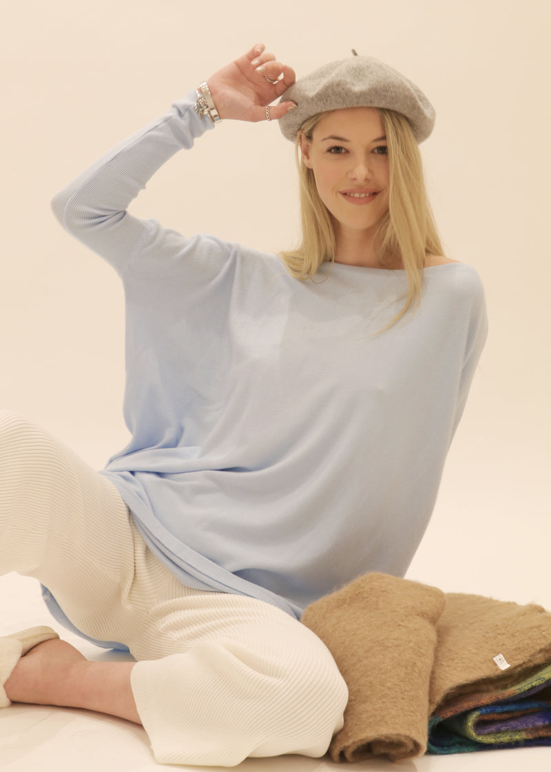 Amazing Knit Jumper in Baby Blue