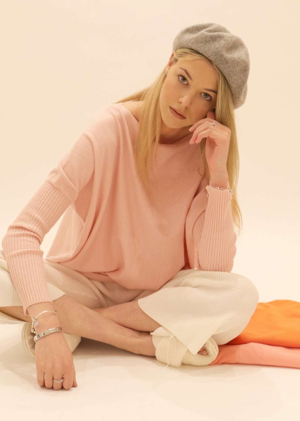 Amazing S005 Knit Jumper,Blush Pink,