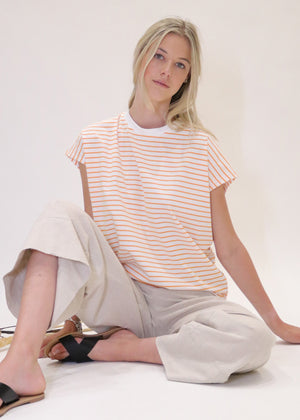 Weekday Striped Tee in Almond Nougat