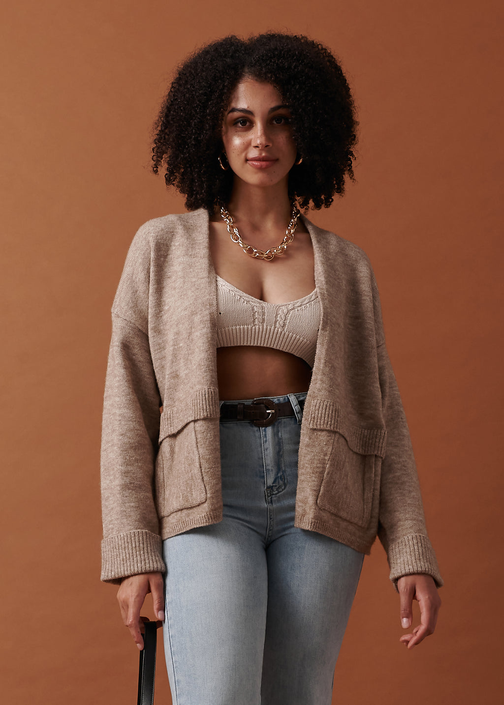 Mariam Cardigan in Chai