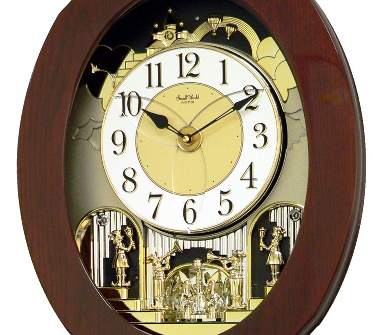 Rhythm Magic Motion Grand Nostalgia Entertainer Wall Clock