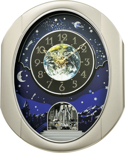 Rhythm Peaceful Cosmos II Magic Motion Wall Clock