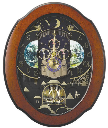 Rhythm Magic Motion Timecracker Cosmos Wall Clock