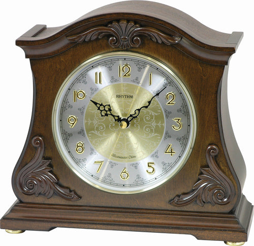Rhythm Joyful Versailles Musical Mantel Clock