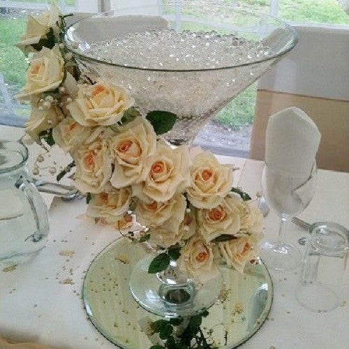 Rose and Pearl Martini Glass