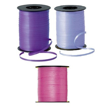 Curling Ribbon Pack of 3 Hot Pink, Baby Pink & Purple