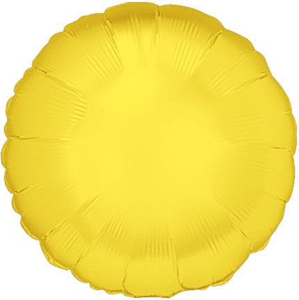 "Foil 18"" Round in Yellow"
