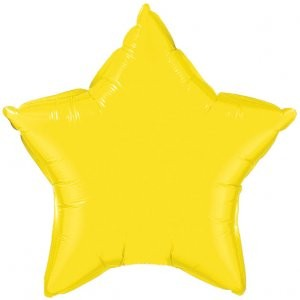 "Foil 18"" Star in Yellow"
