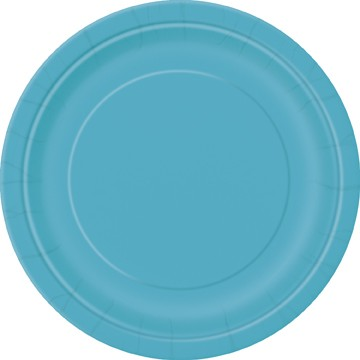 "Bright Caribbean Blue 8 Pack of 7"" Paper Plates"