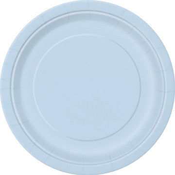 "Pale Blue 16 Pack of 9"" Paper Plates"