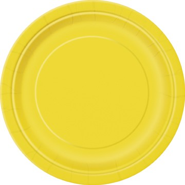 "Yellow  16 Pack of 9"" Paper Plates"