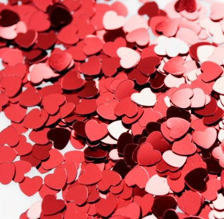 Confetti Heart Red