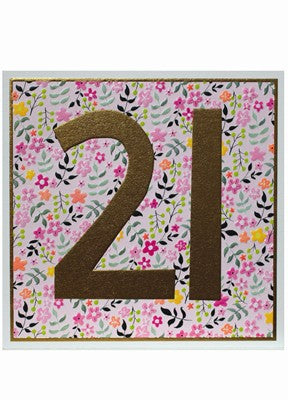 Floral 21st Birthday Card
