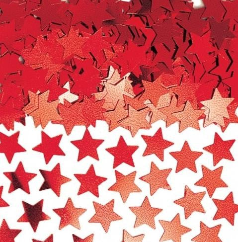 Confetti Star Red