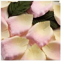 Rose Paper Petals Pink and Ivory