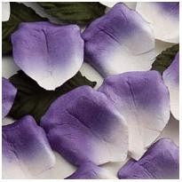 Rose Paper Petals Purple and Ivory