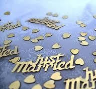 Confetti Just Married Gold