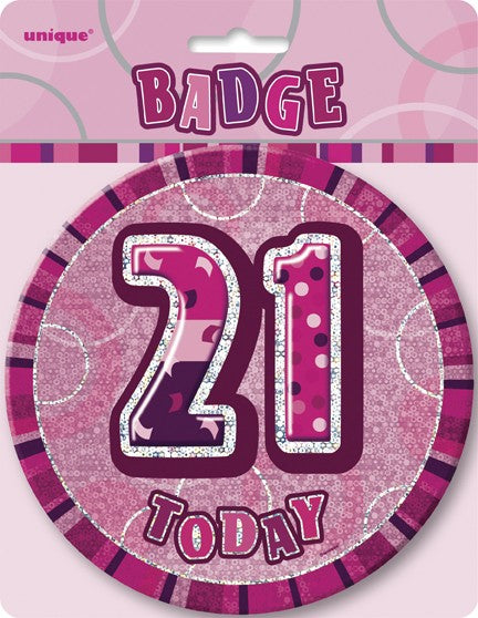 21st Pink Giant Badge