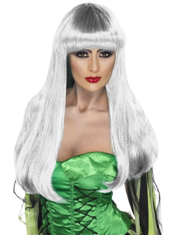 Silver Glamour Witch Wig