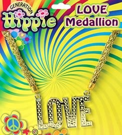 Gold 'Love' Medallion