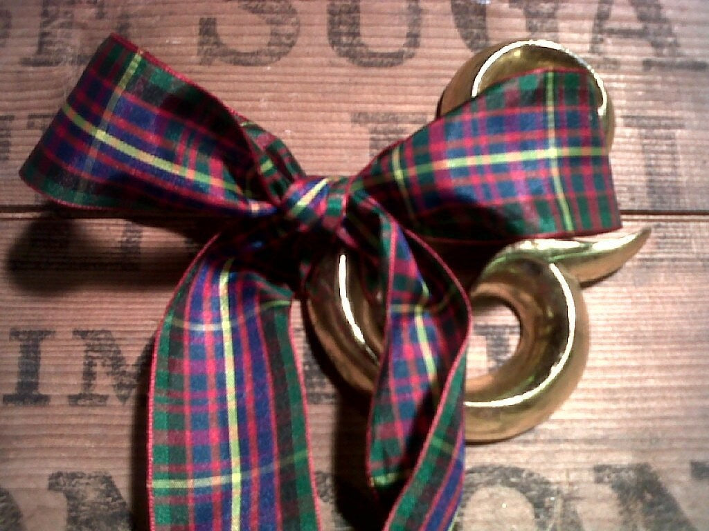 Ribbon - Red, Blue, Green and Yellow Tartan 38mm x 5 m