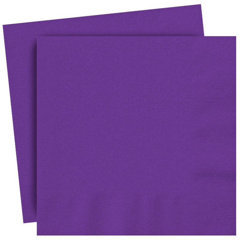 Bright Purple Paper Lunch Napkins, 33cmx33cm (13x13 inches)