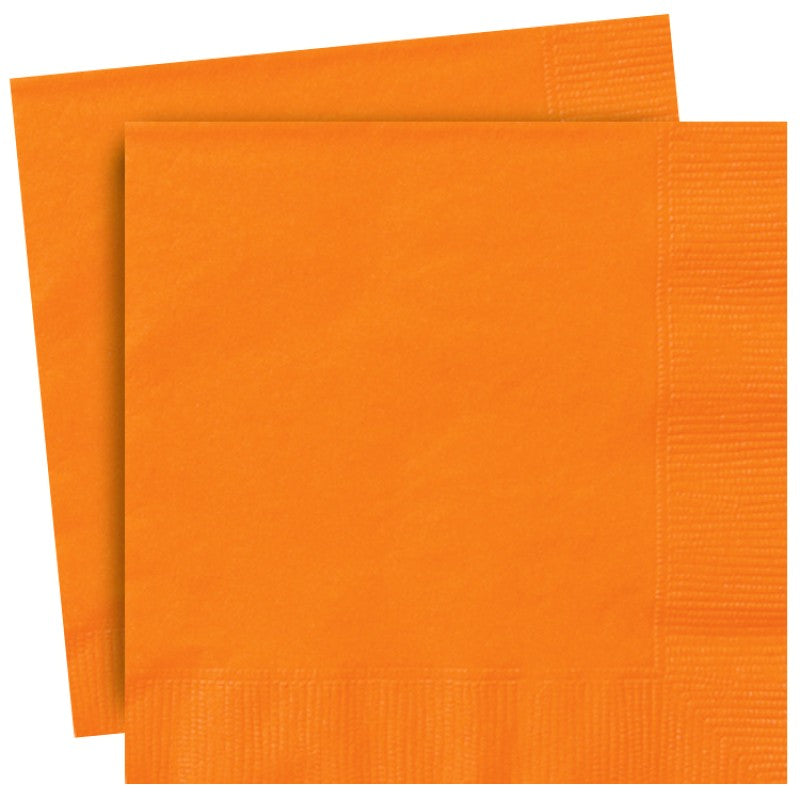 Orange Paper Lunch Napkins 33cmx33cm (13x13 inches)