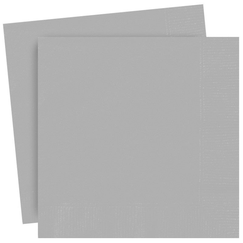 Silver Paper Lunch Napkins 30cm x 30 cm (13 x 13 inches)