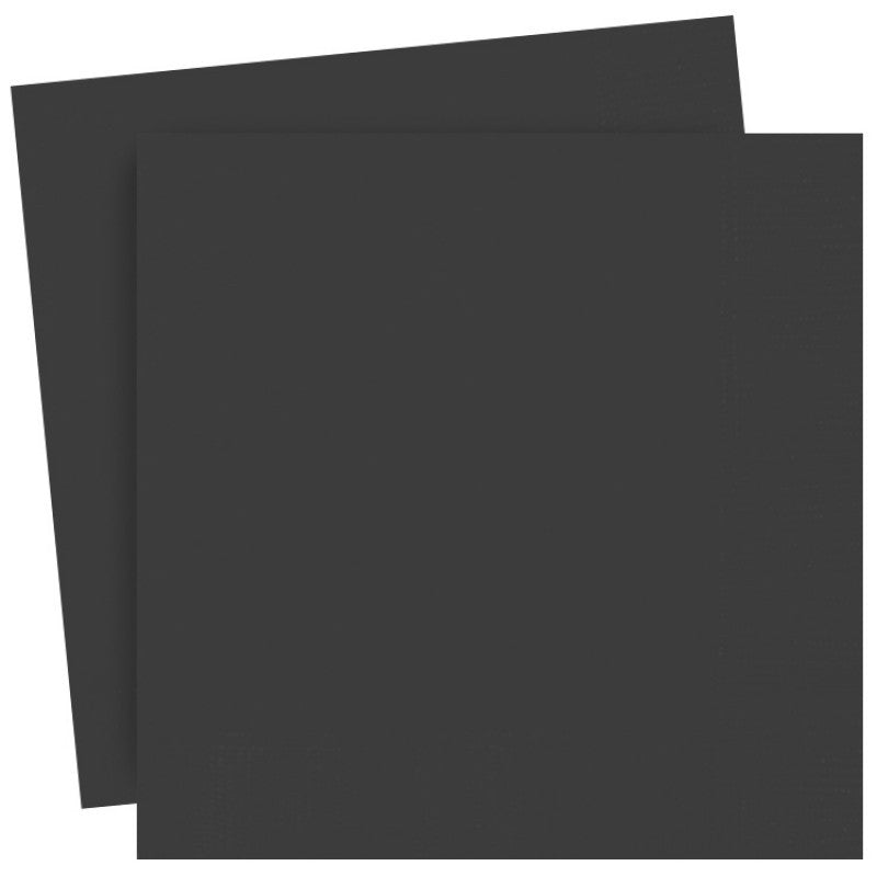 Midnight Black Paper Lunch Napkins 30cm x 30 cm (13 x 13 inches)