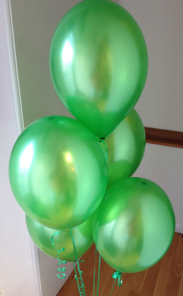 Emerald Range Pearlised, Helium Quality Balloons with Curling Ribbon