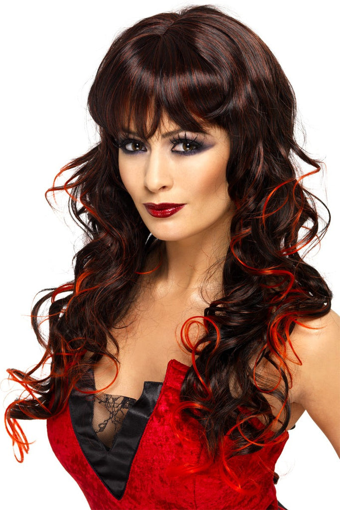 Black and Red Vixen Wig
