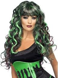 Green Blood Drip Monster Wig