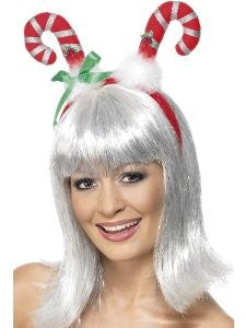 Headware - Candy Cane with a Green Bow