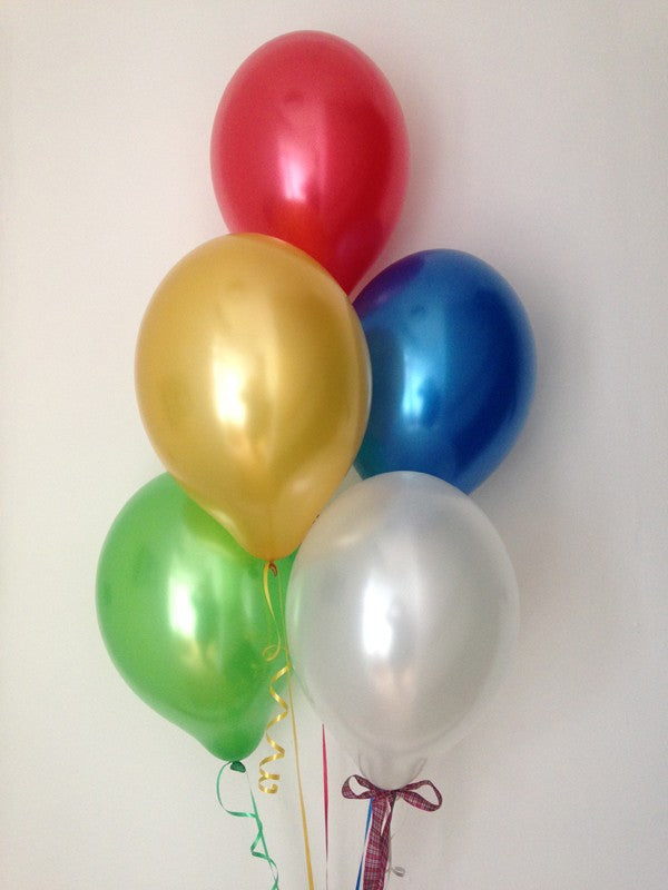 Pearlised Latex Balloons 'Royal Stuart' Tartan - Perfect for Burn's Night!
