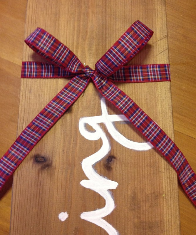 Ribbon - 16mm x 25m - Red Tartan Ribbon - Great for Gifts & Burn's Night!
