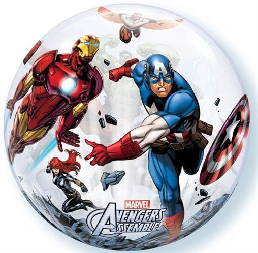 Marvel Avengers Assemble Clear Bubble Balloon 22""