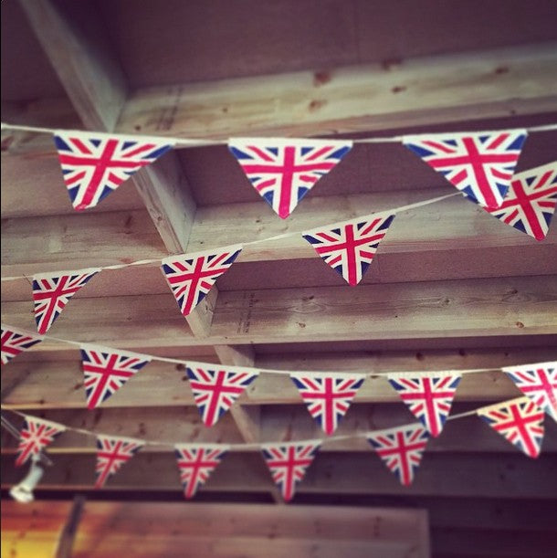 Gorgeous Vintage Union Jack Fabric Bunting.