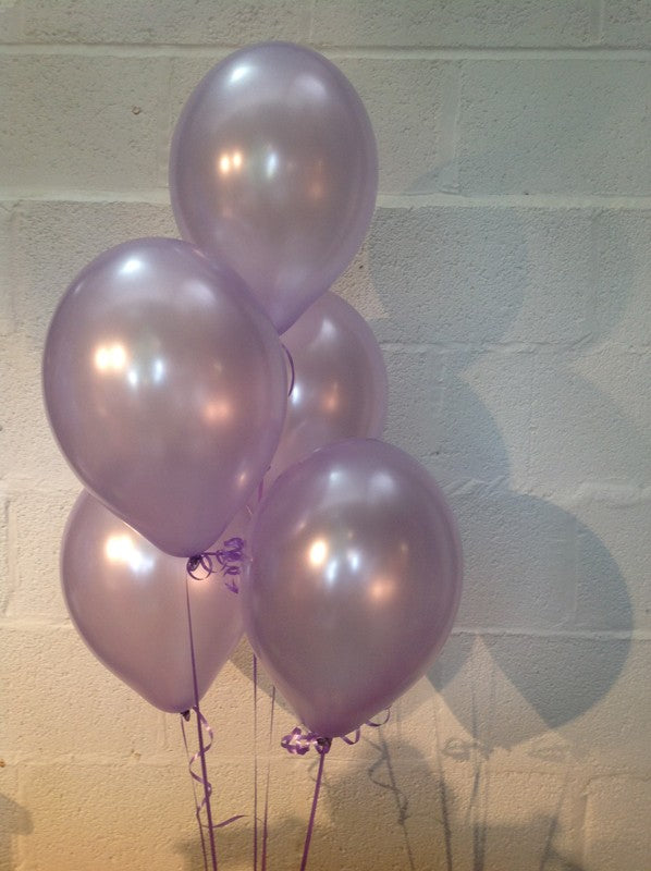 Lavender Lilac Single Shade Range Pearlised Latex Balloons (Helium Quality)