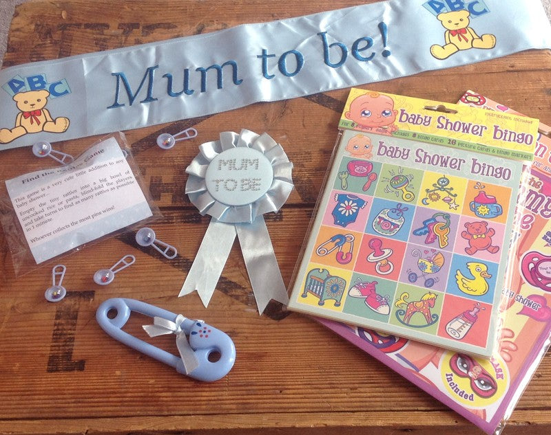 Baby Shower Kit - Blue - Everything you Will Need for the Perfect Baby Shower
