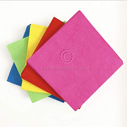 100 x Bright Rainbow Lunch Napkin Set - Perfect Party Setup for All Occasions!