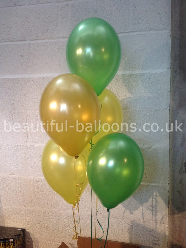 Party Pineapple Shade Range - Pearlised Latex Balloons (Helium Quality)