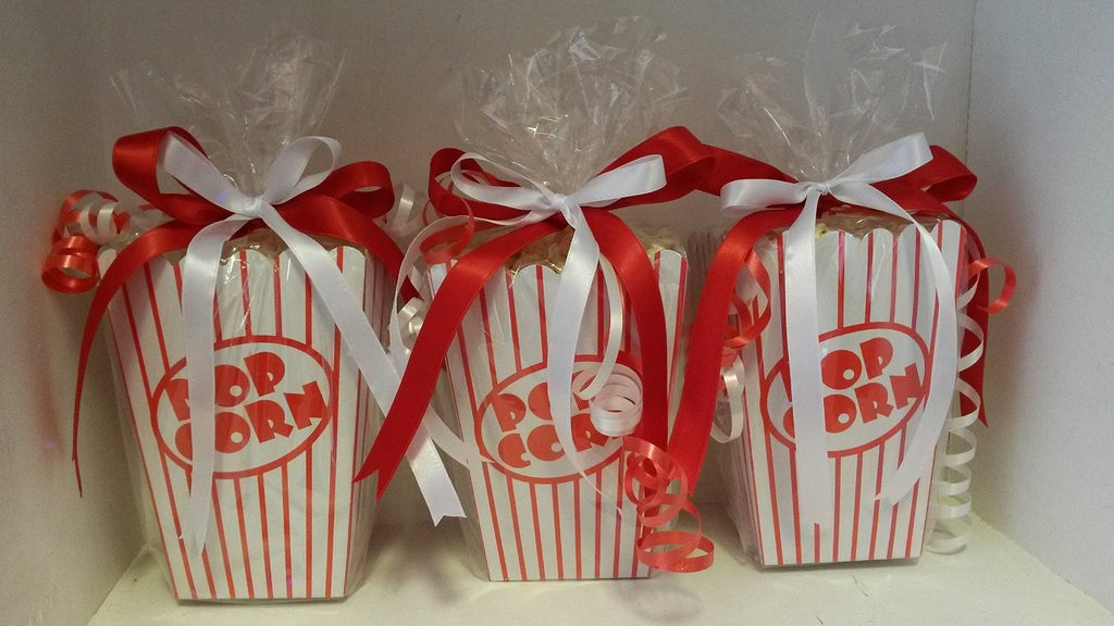30 Popcorn Boxes With 30 Clear Cellophane Bags (with twist ties)