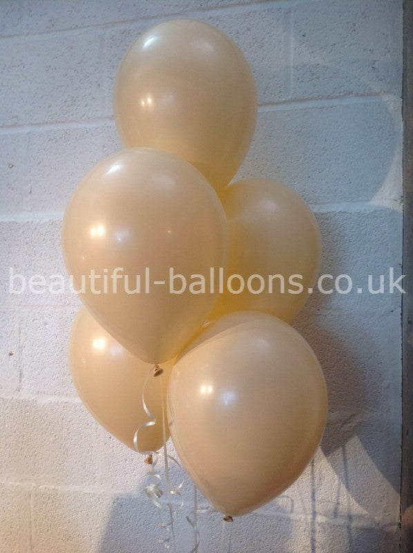 Champagne Bubbles Single Shade Range Latex Balloons (Helium Quality)